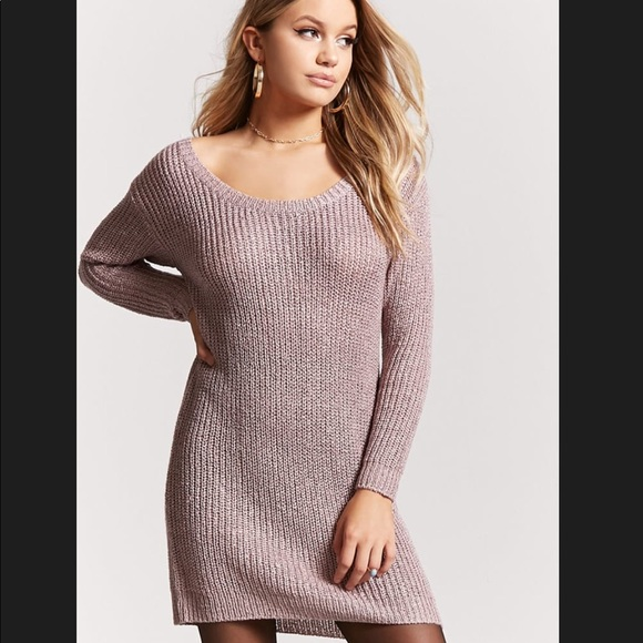 be75615533c Forever 21 Scoop Neck Sweater Dress